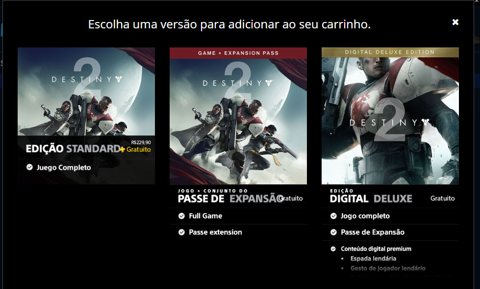 Destiny 2 PS Store