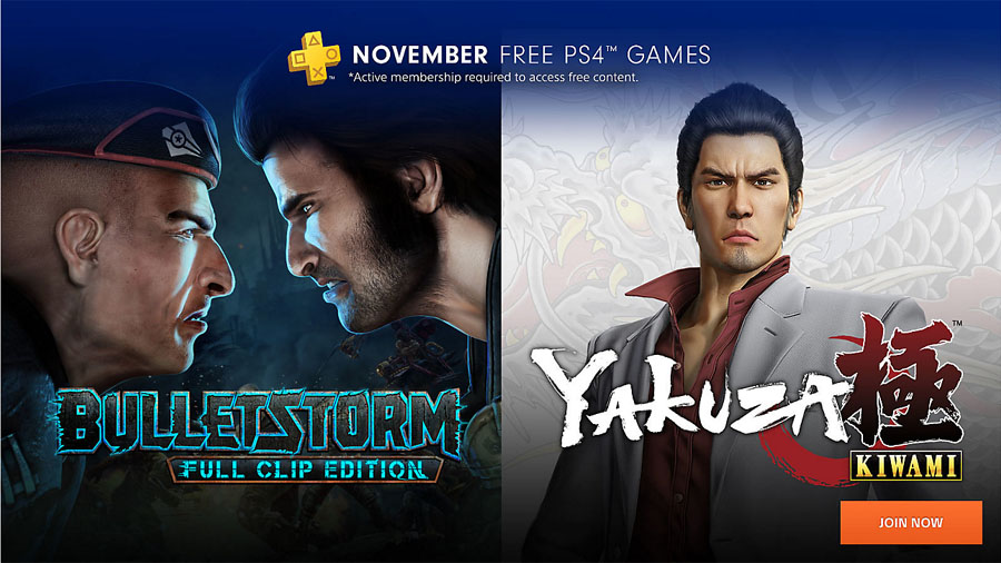 PS Plus Novembro 2018