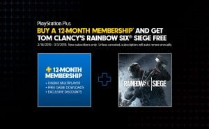 PS Plus Rainbow Six Siege
