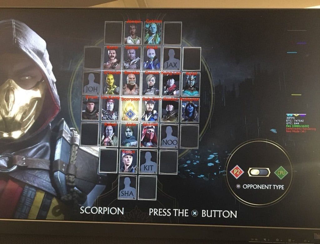 Mortal Kombat 11 Todos os Personagens