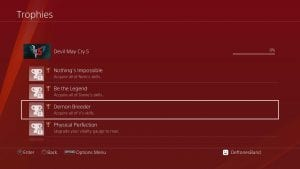 Devil May Cry 5 Lista de Troféus