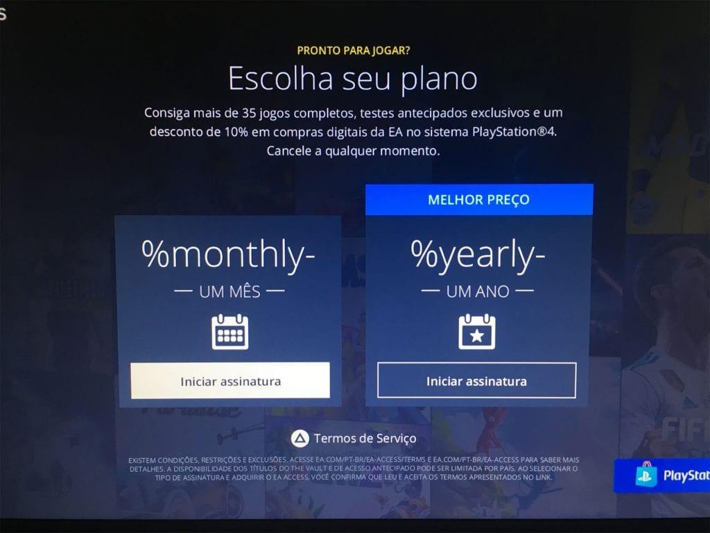 EA Access Bug