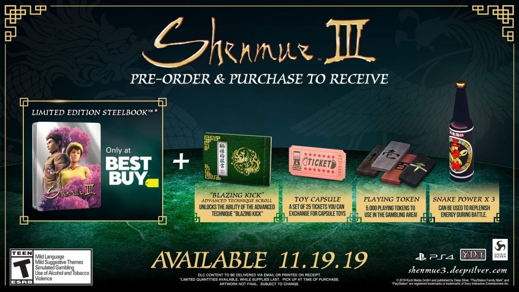 Shenmue 3 Best Buy