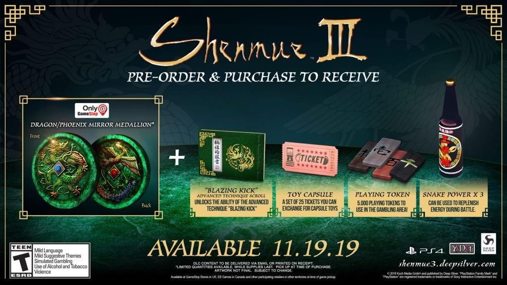 Shenmue 3 GameStop