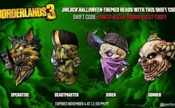 Borderlands 3 cabeças de Halloween