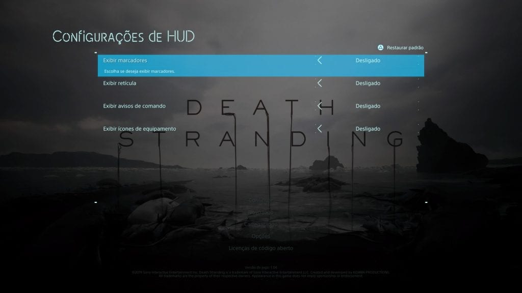 Death Stranding Legendas