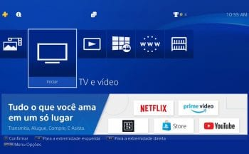 TV e Vídeo no PlayStation 4