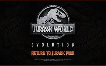 "DLC ""Return to Jurassic Park"" de Jurassic World Evolution"