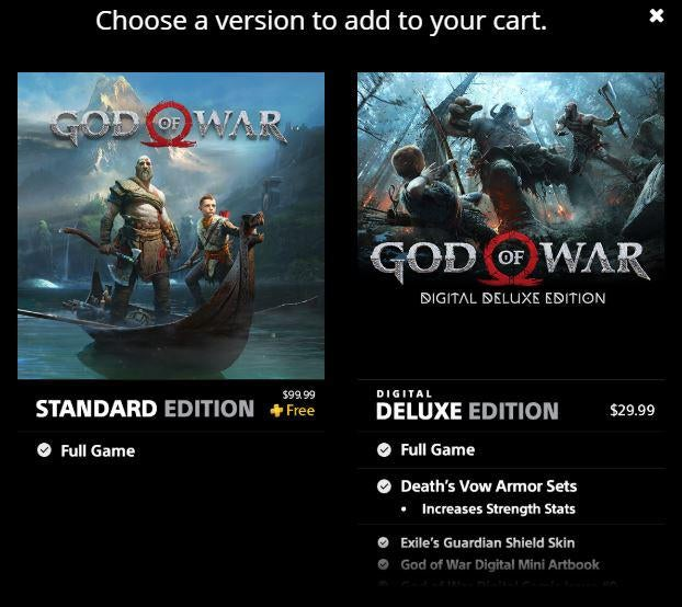 God of War PS Plus