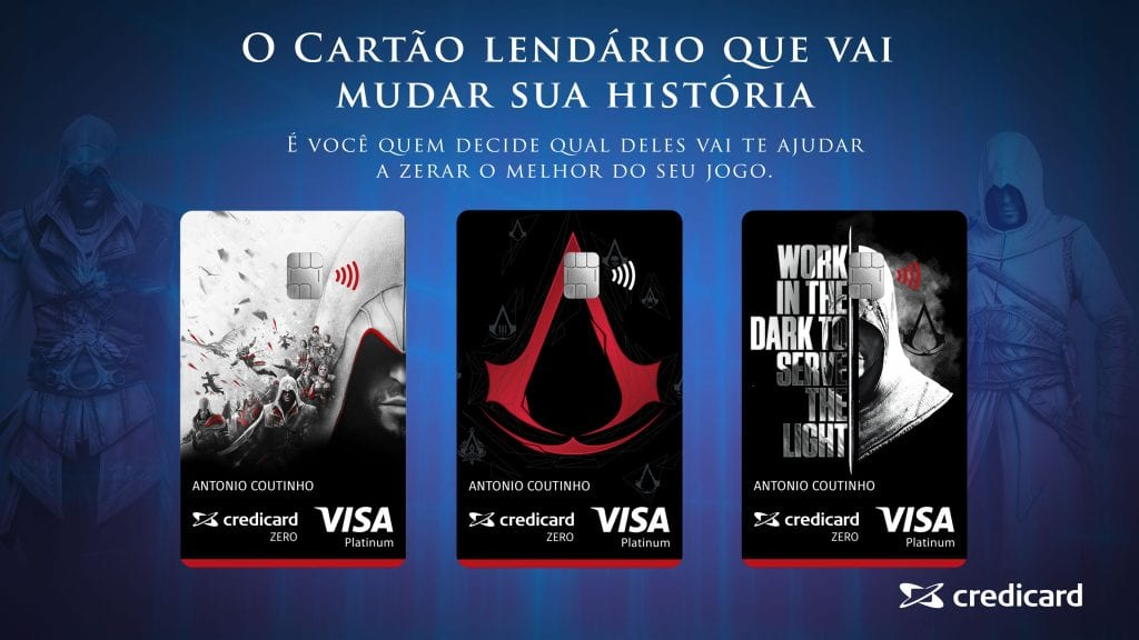 Cartão de Crédito Assassins Creed