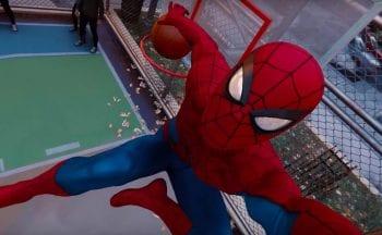 spider-man cesta basquete