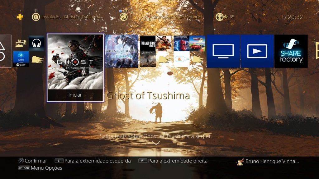 Ghost of Tsushima Main Menu