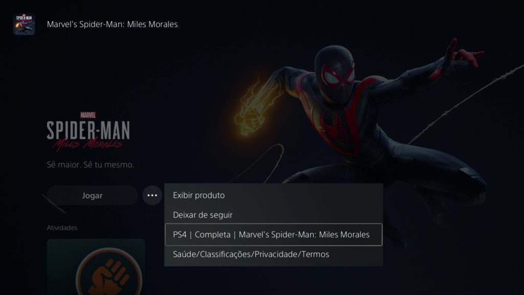 PS5 Interface