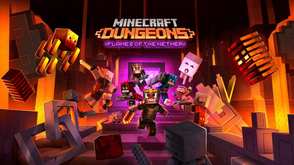 DLC Flames of the Nether Minecraft Dungeons
