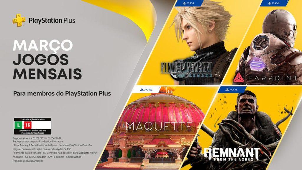 PS Plus Março 2021